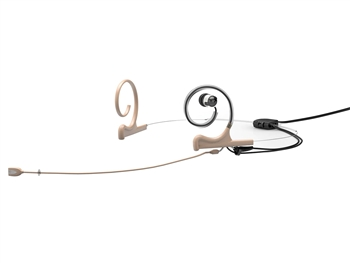 DPA FIOF10-2-IE1-B - d:fine In-Ear Broadcast Headset Microphone, Beige, 110mm Omni Boom, Dual- Ear, Single In-Ear, TA4F for Shure
