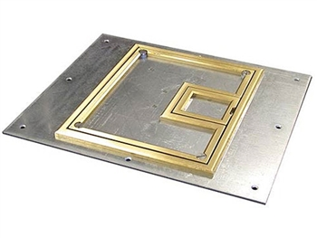 "FSR FL-700-BLP-C, Cover With 1/4"" Brass Carpet Flange (Lift off door)"