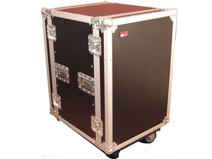 Gator G-TOUR 14U CAST - 14U, Standard Audio Road Rack Case w/ Casters
