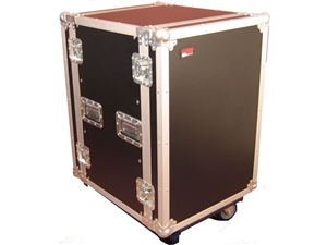 Gator G-TOUR 16U CAST - 16U, Standard Audio Road Rack Case w/ Casters
