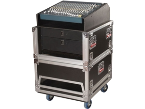 Gator G-TOUR-GRC-1406 - 14U Top, 6U Side Audio Road Console Rack
