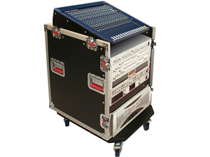 Gator G-TOUR-GRC12X12 - 12U Top, 12U Side Audio Road Console Rack