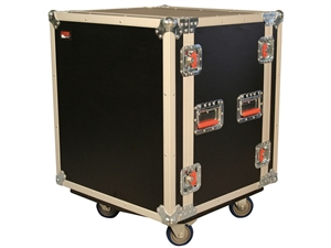 Gator G-TOUR SHK12 CA - 12U Shock Audio Road Rack Case w/ Casters