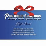 Professional Audio Solutions $250 Gift Certificates
