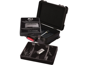 Gator GM-7W-TSA - ATA Molded Case for 7 Wireless Mics; TSA Latches