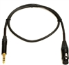Mogami GOLD-TRSXLRF-03, Patch Cable, 1/4 TRS to XLRF, 3 Ft.