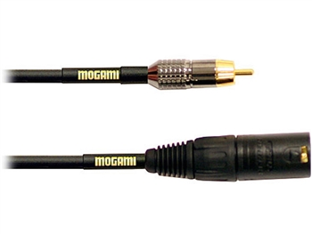 Mogami GOLD XLRM-RCA-06, XLRM-RCA Cable. 6 Ft. Gold