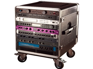 Gator GRC-BASE-10 - 10U Rack Base w/ casters, for Console Audio Racks