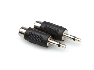 Hosa GRM-114 Adaptor - RCA Female to 1/8-inch (3.5mm) TS Male (2 pcs per pack)