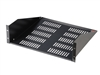 "Gator GRW-SHELFVNT3 - Gator Rackworks Utility Shelf; 17"" Deep; 3U; w/ Elongated Vent Holes for Air Circulation"