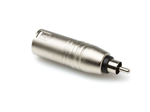 Hosa GXR-135 - RCA Male to XLR Male Adaptor