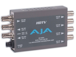 AJA HD10DA,HD SDI/SDI Distribution Amp/Repeater, 1x6