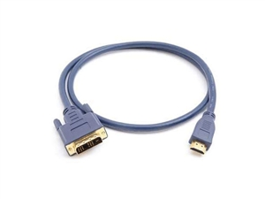 Hosa HDMD-106 Video Cable - HDMI(Male) to DVI-D(Male) - Single Link - 6 Ft.