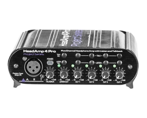 ART Audio HeadAMP 4 Pro - Five Channel Headphone Amplifier with Talkback