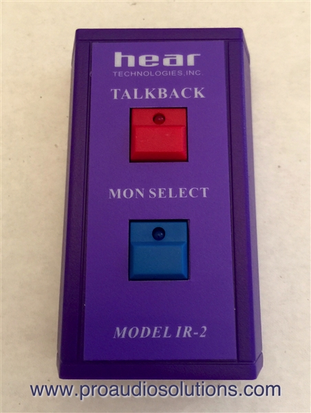 Hear Technologies IR-2 Dual Button Wireless- Remote for MV600