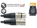 Stagg NMC1R Pro Mic Cable Neutrik REAN XLR3F to XLR3M 1 Meter (3.28 ft)