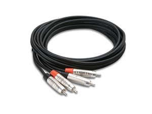 Hosa HRR-015X2, Stereo Interconnect, Dual REAN RCA males  to Same, 15 ft
