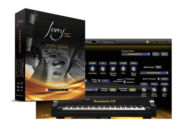 Synthogy Ivory II Studio Grands (Download)