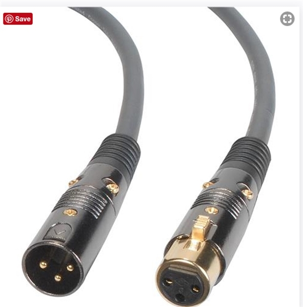 12ft SONICWAVE PRO-AUDIO CABLE XLR MALE to XLR FEMALE (40817)