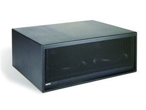 "Bag End IPD18E-AD - Infra Powered Black Painted Low Profile Double 18"" Enclosure"