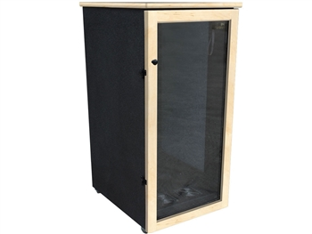 Sound Construction IsoBox Post 24RUx45 - 24-Space - 24-inchW x 45-inchD x 54-inchH