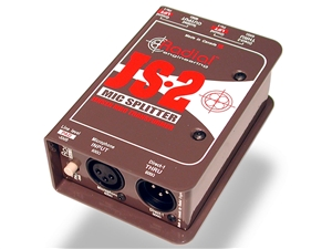 Radial JS-2 Jensen-equipped Passive Mic Signal Splitter