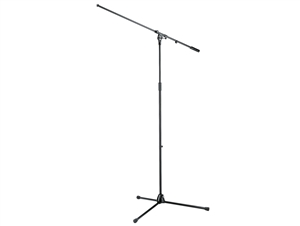 K&M 21021 Black Floor Stand - Extra tall black tripod