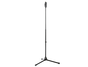 K&M 25680 Black Microphone Stand -  - One-hand grip release with tripod base