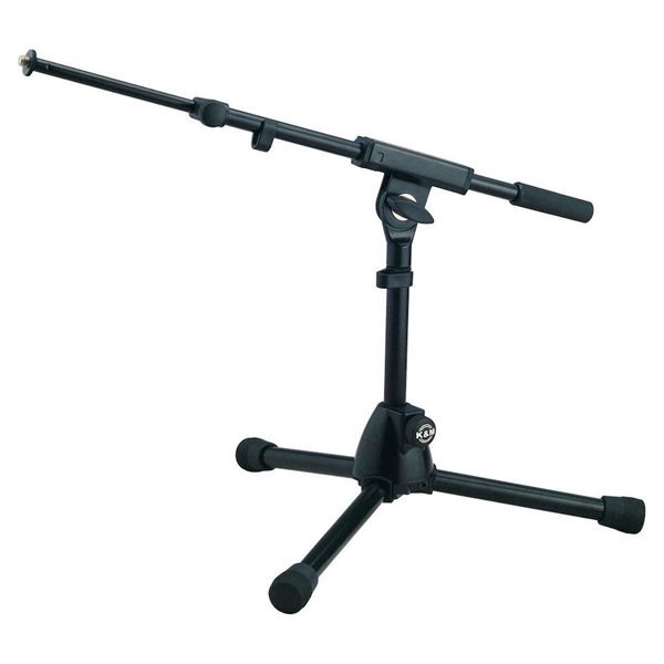 K&M 25950 Black Ultra Low profile Microphone Stand