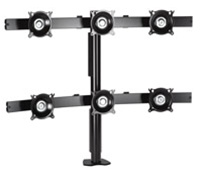 Chief KTC330B, Flat Panel Six Monitor Desk Clamp Mount