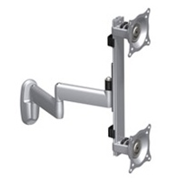 Chief KWD230B, Flat Panel Dual Vertical Monitor Arm Wall Mount