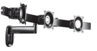 Chief KWS320B, Triple Horizontal Monitor Arm Wall Mount