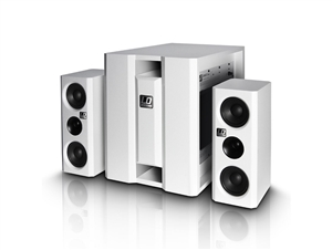 LD Systems DAVE8XSW - Powered 2.1 PA System (WHITE)