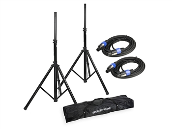 LD Systems SPS023-STANDSET - Speaker Stands (2) w/Carry Bag + (2) Speakon Cables for DAVE 10/12/15 Systems