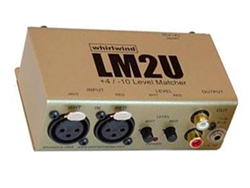 Whirlwind LM2U - 2-Channel Balanced to Unbalanced Line Level Converter