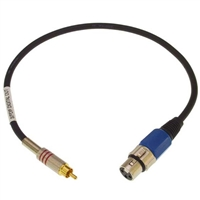 CBL-XFDR18 S/PDIF Adapter. RCA Male to XLR Female - 18-inch Long- Digital Out to S/PDIF (Included with LynxTWO/L22), Lynx
