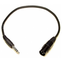 Lynx CBL-XM2TM18 XLR Male to 1/4-inch TRS - 18-inch Long- Analog In to 1/4-inch Balanced or Unbalanced TRS (2 Needed for Stereo)