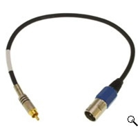 CBL-XMDR18 S/PDIF Adapter. RCA Male to XLR Male - 18-inch Long- Digital In to S/PDIF (Included with LynxTWO/L22), Lynx