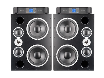 "Dynaudio M3XE Pack - 12"" 3-Way Monitors with PLM 12K44 4-Channel Amplifier"