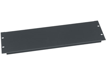 Middle Atlantic MA-EB3 - 3 Space Flanged Econo-Blank, Black Powder Coat Finish