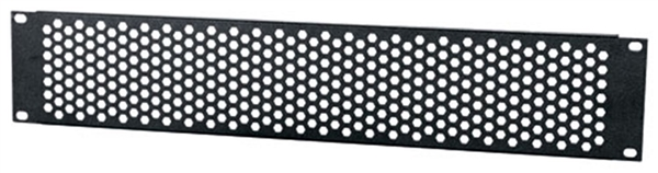 MA-HV2, 2 RU Black Hex Pattern Vent Rack Panel, Middle Atlantic