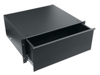Middle Atlantic UD4 - 4 Space (7-inch) Utility Drawer - Black Powder Coat Finish