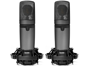Miktek CV3MP Matched Pair large diaphragm Tube Condenser mics