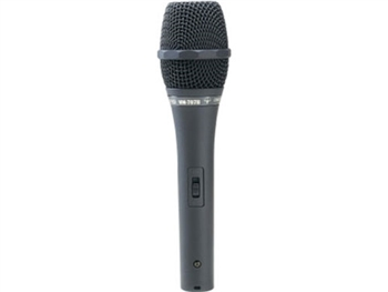 MIPRO MM-707C/B, Handheld Hypercardioid Condenser Wired Microphone with on/off switch (AA battery operated)
