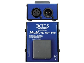 Rolls MM11 Pro - Switchable Mic Mute/Talk Professional Microphone Switch