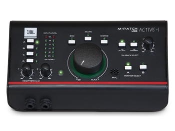 JBL M-Patch Active-1 - Monitor Control Plus Studio Talkback and USB Audio I/O