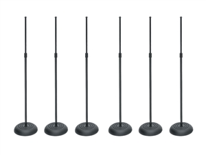 On-Stage 6 pack of MS7201B Round Base Microphone Stand