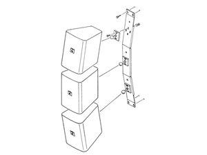 JBL MTC-23V - Vertical-Array Wall Bracket for Three Control 23 Speakers.