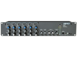 Ashly MX406 - 6 Channel Rackmountable Stereo Line and Microphone Mixer