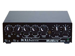 Rolls MX153 Mix Mate 1/2 Rack Mic / Source Mixer